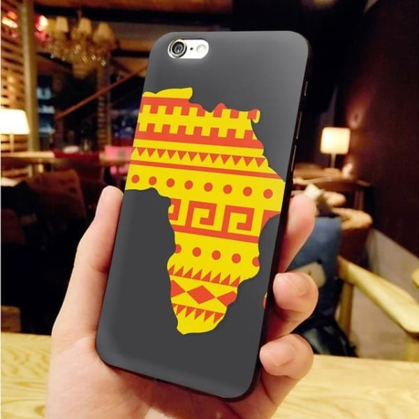 Africa Map Unique Iphone Case For Iphone 8 /7 /6 /6S Plus /x /5 5S Se - 8 / For Iphone X Or Xs - Iphone Cases & Bags - Paidcellphone