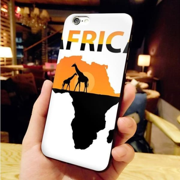 Africa Map Unique Iphone Case For Iphone 8 /7 /6 /6S Plus /x /5 5S Se - 7 / For Iphone X Or Xs - Iphone Cases & Bags - Paidcellphone