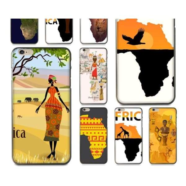 Africa Map Unique Iphone Case For Iphone 8 /7 /6 /6S Plus /x /5 5S Se - Iphone Cases & Bags - Paidcellphone