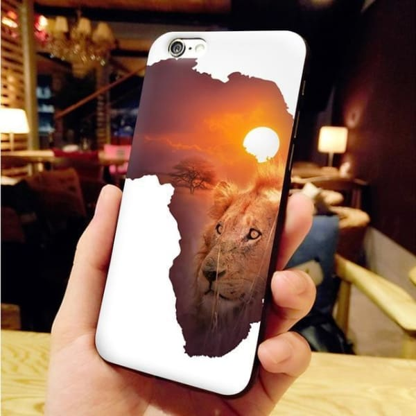 Africa Map Unique Iphone Case For Iphone 8 /7 /6 /6S Plus /x /5 5S Se - 5 / For Iphone X Or Xs - Iphone Cases & Bags - Paidcellphone