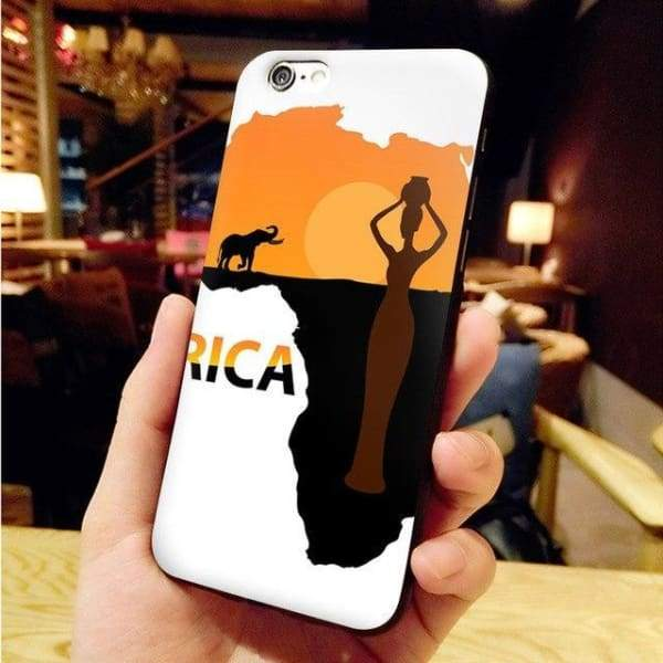 Africa Map Unique Iphone Case For Iphone 8 /7 /6 /6S Plus /x /5 5S Se - 6 / For Iphone X Or Xs - Iphone Cases & Bags - Paidcellphone