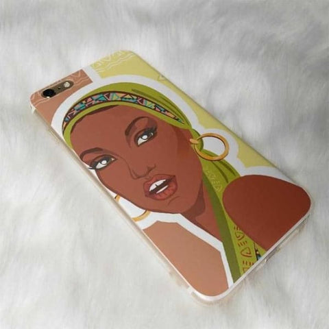 Africa Women Figures Iphone Cases For Iphone X /6 /6S /7 /7Plus /8 /8Plus /5 /5S - 5 / For Iphone 8 - Iphone Cases & Bags - Paidcellphone