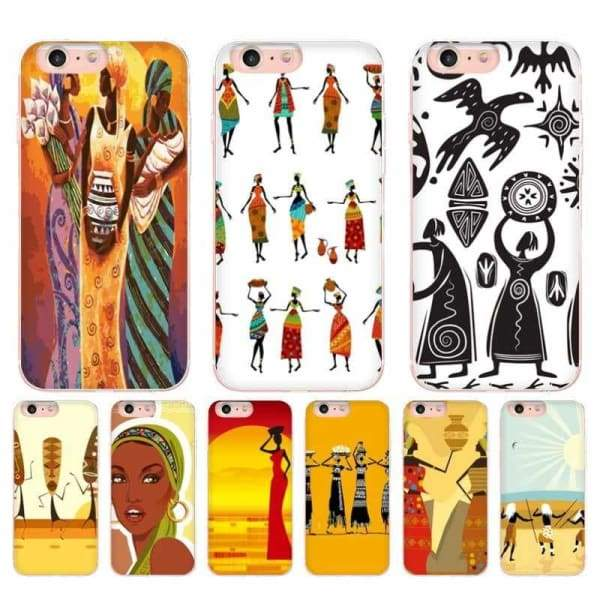 Africa Women Figures Iphone Cases For Iphone X /6 /6S /7 /7Plus /8 /8Plus /5 /5S - Iphone Cases & Bags - Paidcellphone