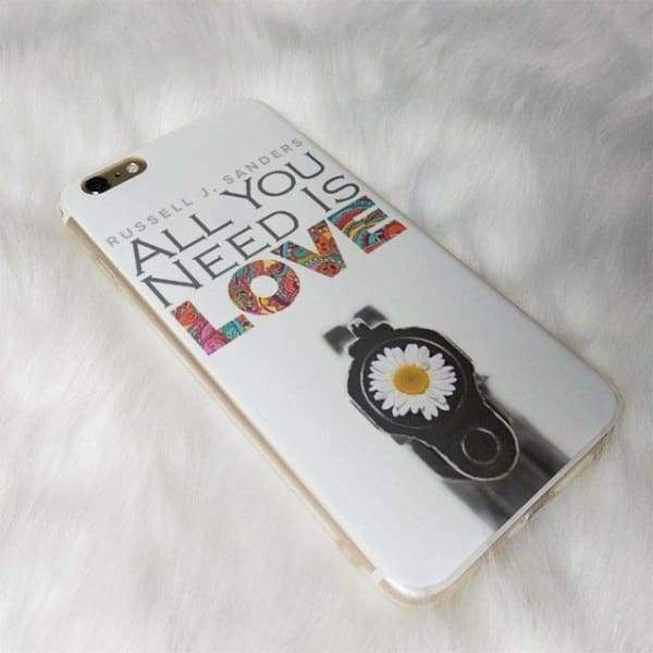 All You Need Is Love Iphone Case For Iphone /6 /6S /7 /7Plus /8 /8Plus /5 /5S /x - 8 / For Iphone 5 5S - Iphone Cases & Bags - Paidcellphone