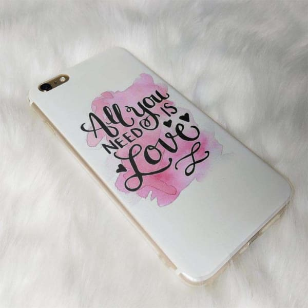 All You Need Is Love Iphone Case For Iphone /6 /6S /7 /7Plus /8 /8Plus /5 /5S /x - Iphone Cases & Bags - Paidcellphone