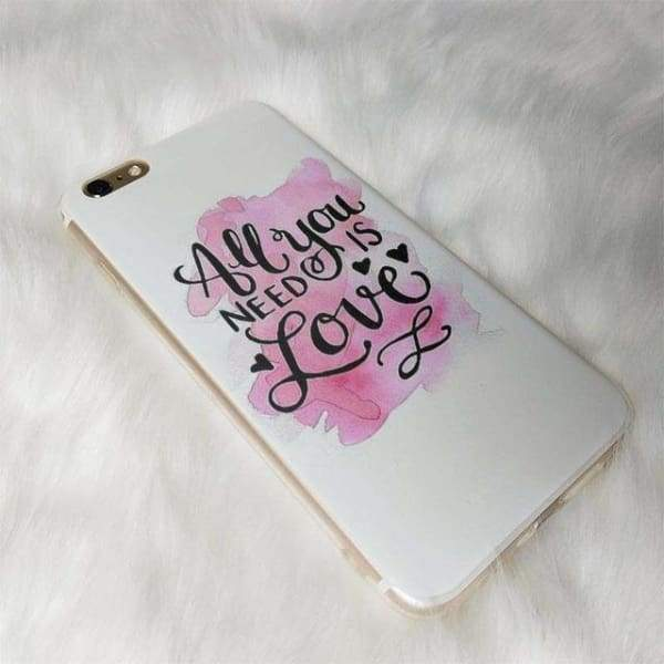 All You Need Is Love Iphone Case For Iphone /6 /6S /7 /7Plus /8 /8Plus /5 /5S /x - 3 / For Iphone 5 5S - Iphone Cases & Bags - Paidcellphone