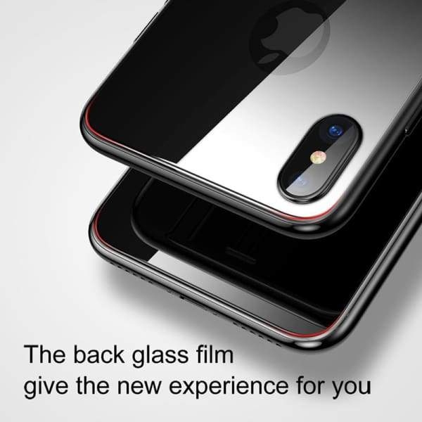 Back Tempered Glass Protector For Iphone X - Screen Protectors - Paidcellphone