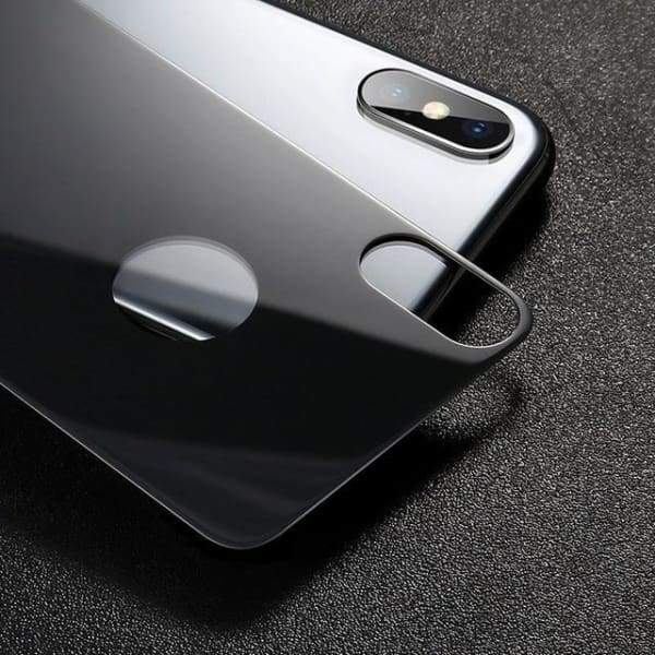 Back Tempered Glass Protector For Iphone X - Black / For Iphone X - Screen Protectors - Paidcellphone