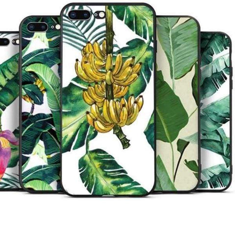Banana Leaves Iphone Case For Apple Iphone 5 /5S /5C /se /6S /7 /8 - Iphone Cases & Bags - Paidcellphone