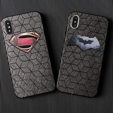 Batman Superman Phone Case For Iphone X /8 /7 /6(S) Plus - Iphone Cases & Bags - Paidcellphone