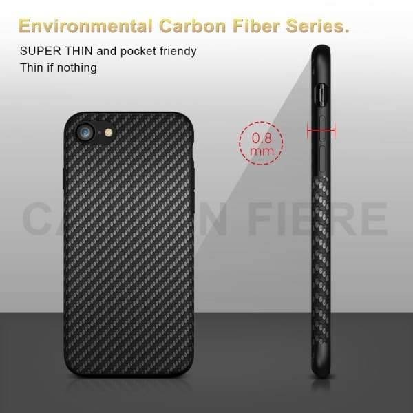 Carbon Fiber Iphone Case For Iphone 8 /x /7 /6 /6S Plus /5S - Iphone Cases & Bags - Paidcellphone