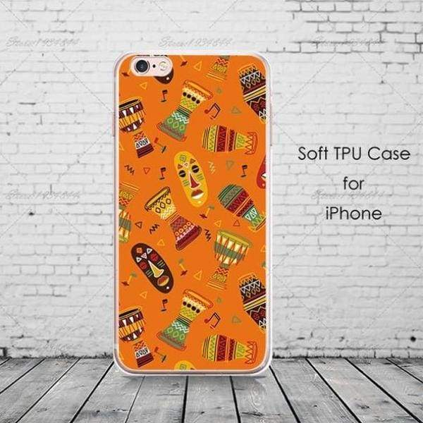 Cartoon Africa Iphone Case For Iphone 6 /6S /5 /5S Se/ 7 /8 Plus /x - Africa 7 / For Iphone 6 6S - Iphone Cases & Bags - Paidcellphone