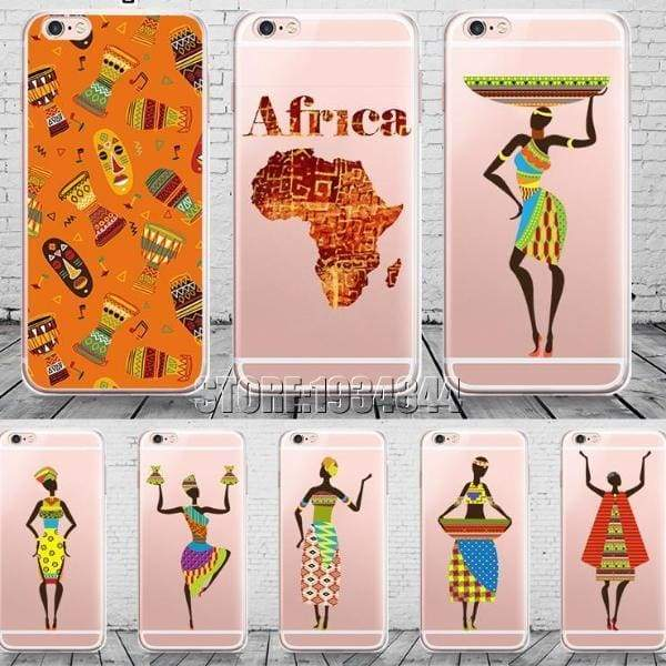 Cartoon Africa Iphone Case For Iphone 6 /6S /5 /5S Se/ 7 /8 Plus /x - Iphone Cases & Bags - Paidcellphone