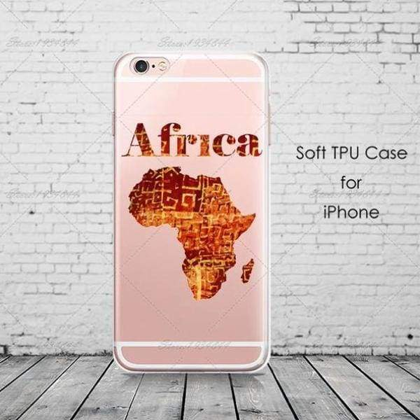 Cartoon Africa Iphone Case For Iphone 6 /6S /5 /5S Se/ 7 /8 Plus /x - Africa 8 / For Iphone 6 6S - Iphone Cases & Bags - Paidcellphone