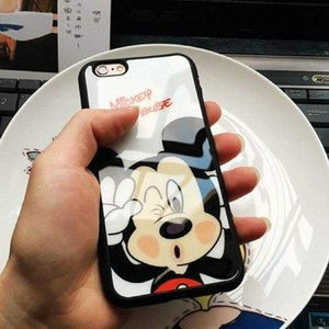 Cartoon Mickey Minnie Mouse Case For Iphone X / 5S Se/ 6(S) /7/8 Plus - Mickey / For Iphone 5 5S Se - Iphone Cases & Bags - Paidcellphone
