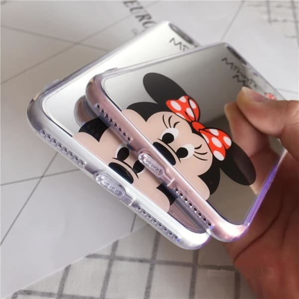 Cartoon Mickey Minnie Mouse Case For Iphone X / 5S Se/ 6(S) /7/8 Plus - Iphone Cases & Bags - Paidcellphone