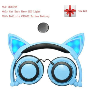 Cat Led Headphones - A Blue / China - Earphones - Paidcellphone