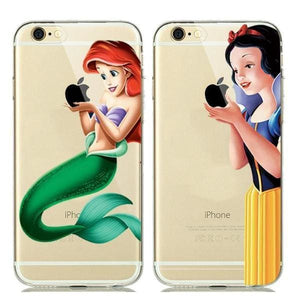 Cinderella Cartoon Silicone Case For Iphone 7 /8 /6(S) Plus /5(S) Se - Iphone Cases & Bags - Paidcellphone
