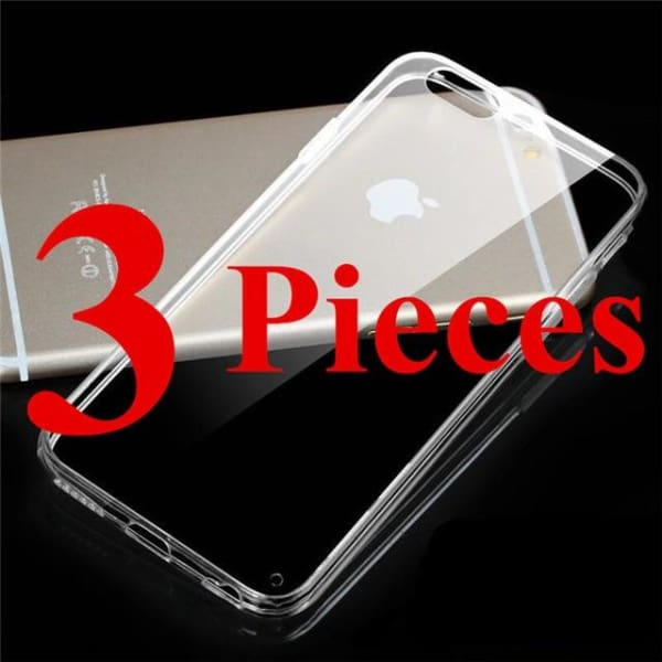 Crystal Tpu Anti-Shock - Transparent Iphone X / Xs Case - 3 Pieces / For Iphone 4 4S - Iphone Cases & Bags - Paidcellphone