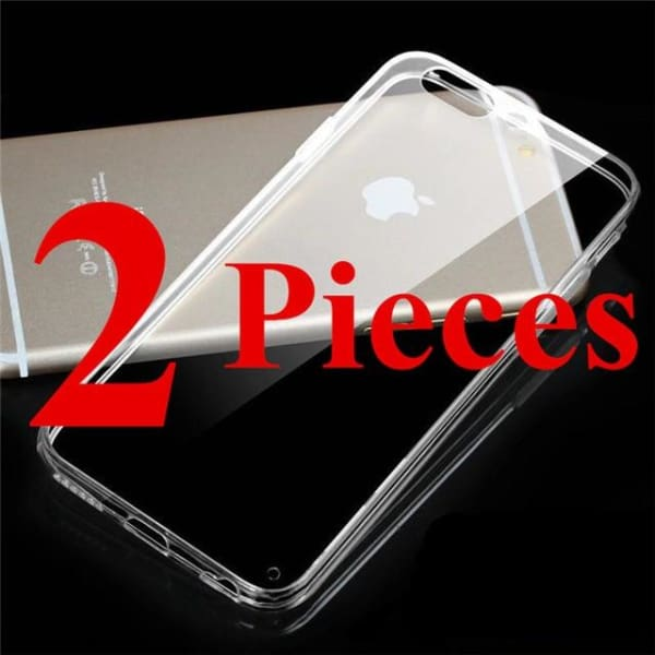 Crystal Tpu Anti-Shock - Transparent Iphone X / Xs Case - 2 Pieces / For Iphone 4 4S - Iphone Cases & Bags - Paidcellphone