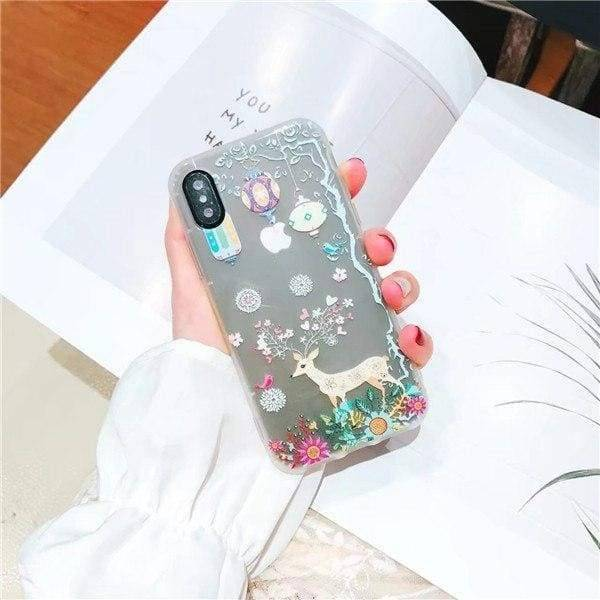 Cute Cartoon Luminous Case For Iphone X/ 8/ 7 / 6/6S & Plus - Fawn / For Iphone 6 6S - Iphone Cases & Bags - Paidcellphone