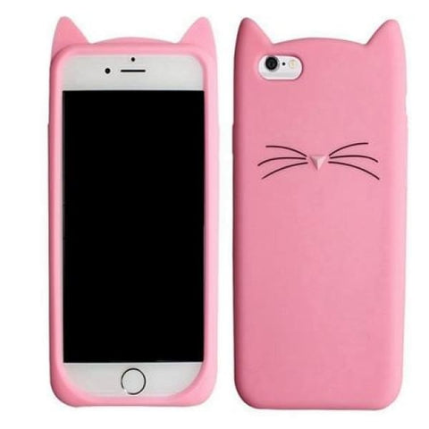 Cute Cat Phone Cases For Iphone 5 /6 /7 /8 /x - Dark Pink / For Iphone 6P 6Sp - Iphone Cases & Bags - Paidcellphone