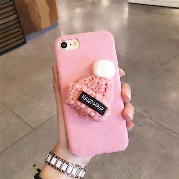 Cute Christmas Case For Iphone 8/ 7/ 6(S) Plus - Pink / For Iphone 6 6S - Iphone Cases & Bags - Paidcellphone