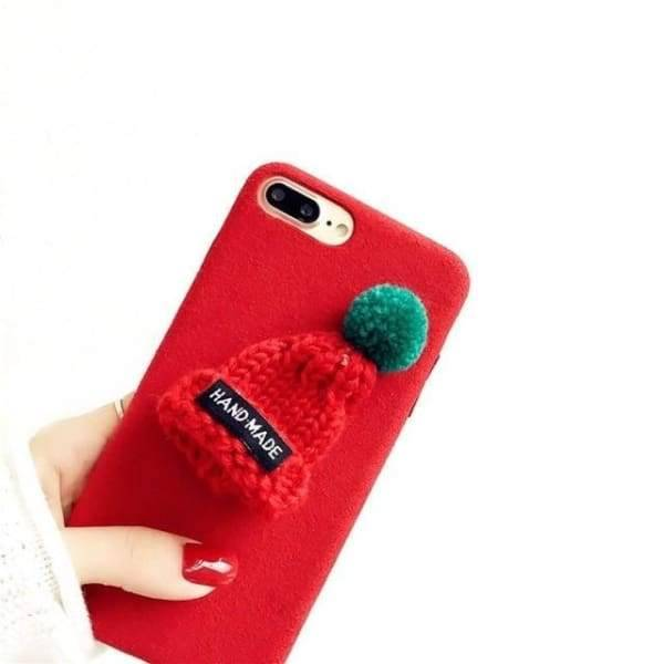 Cute Christmas Case For Iphone 8/ 7/ 6(S) Plus - Red / For Iphone 6 6S - Iphone Cases & Bags - Paidcellphone