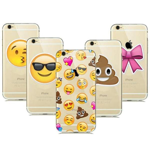 Cute Emoji Phone Cases For Iphone 6(S) Plus /5(S) Se - Iphone Cases & Bags - Paidcellphone