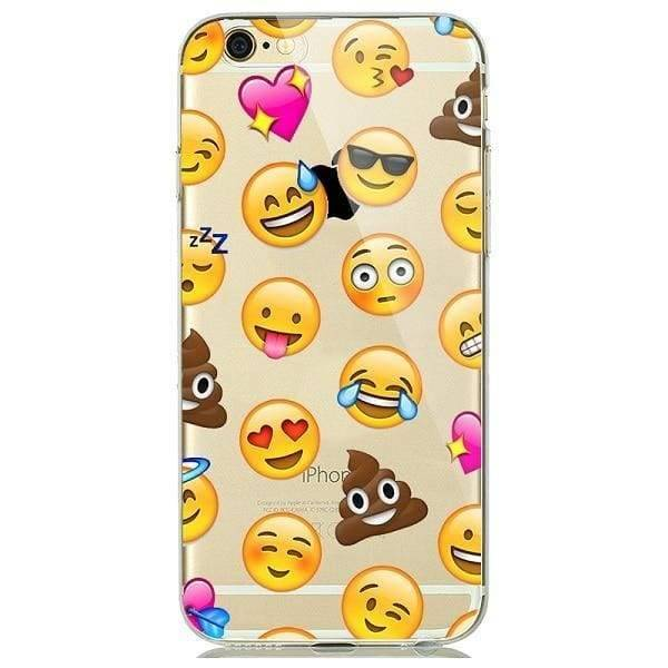 Cute Emoji Phone Cases For Iphone 6(S) Plus /5(S) Se - A7 / For Iphone 5 5S Se - Iphone Cases & Bags - Paidcellphone