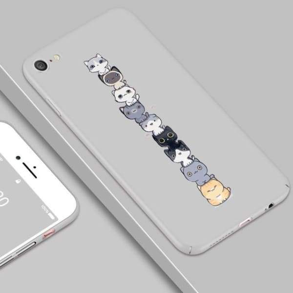 Cute Luxury Patterned Case For Iphone X / 7/8 Plus / 6(S) Plus - Gray / For Iphone X - Iphone Cases & Bags - Paidcellphone