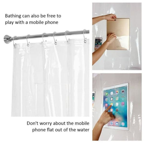 Device Mount Shower Curtain - Car & Phone Holders - Paidcellphone
