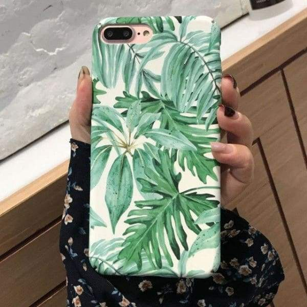 Fashion Artistic Plants Case For Iphone 8 /7 /6(S) Plus - 008 / For Iphone 6 6S - Iphone Cases & Bags - Paidcellphone