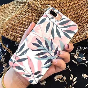 Fashion Artistic Plants Case For Iphone 8 /7 /6(S) Plus - 006 / For Iphone 6 6S - Iphone Cases & Bags - Paidcellphone