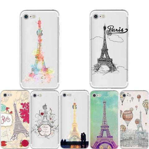 Fashion Paris Eiffel Tower Iphone Case For Iphone 6 6S /7 /8 Plus /5 5S Se /x - Iphone Cases & Bags - Paidcellphone