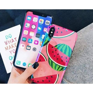 Fruit Painted Phone Case For Iphone X/ 8/ 7/ 6 S - Iphone Cases & Bags - Paidcellphone