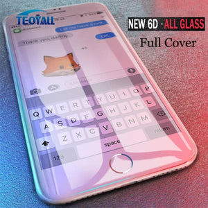 Full Cover 6D Edge Tempered Glass - For Iphone X /xs /7 /8 /6 /6S Plus - Screen Protectors - Paidcellphone