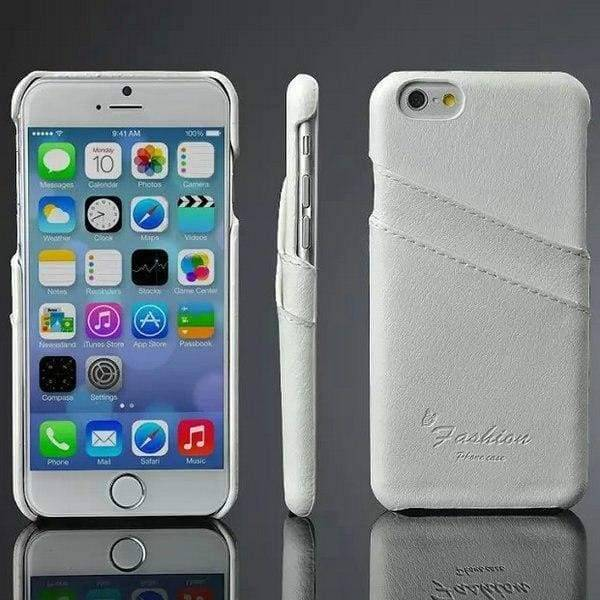 Genuine Leather Case For Iphone 6 Plus - White Case - Iphone Cases & Bags - Paidcellphone