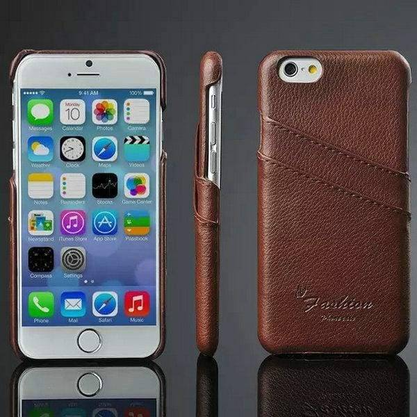 Genuine Leather Case For Iphone 6 Plus - Brown Case - Iphone Cases & Bags - Paidcellphone