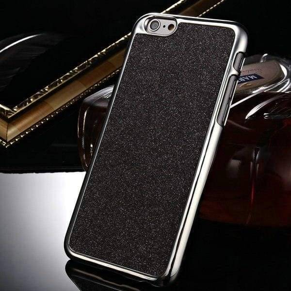 Glitter Hard Case For Iphone 6 /6S - Light Black - Iphone Cases & Bags - Paidcellphone
