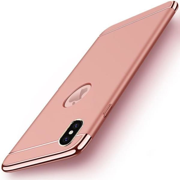Hard Back Joint Case For Iphone X - Rose Gold / For Iphone X - Iphone Cases & Bags - Paidcellphone