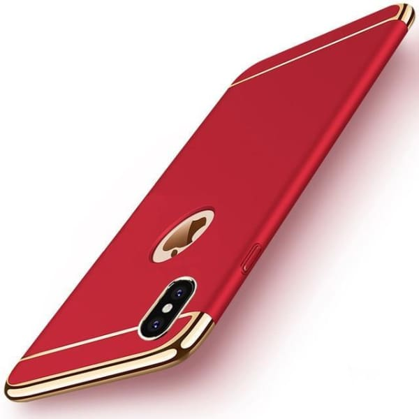 Hard Back Joint Case For Iphone X - Red / For Iphone X - Iphone Cases & Bags - Paidcellphone
