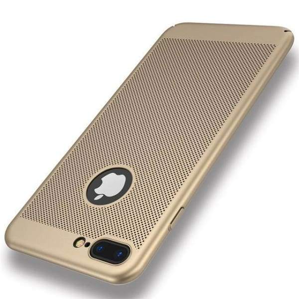 Heat Dissipation Iphone Case For Iphone X /7 /6 /6S Plus /5 /5S Se - Gold / For Iphone 5 5S Se - Iphone Cases & Bags - Paidcellphone