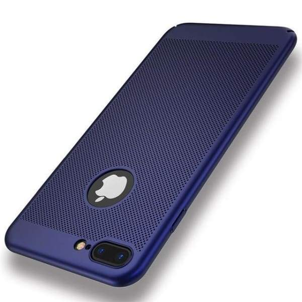 Heat Dissipation Iphone Case For Iphone X /7 /6 /6S Plus /5 /5S Se - Blue / For Iphone 5 5S Se - Iphone Cases & Bags - Paidcellphone