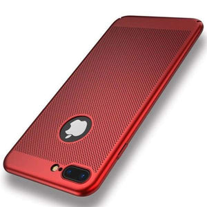 Heat Dissipation Iphone Case For Iphone X /7 /6 /6S Plus /5 /5S Se - Red / For Iphone 5 5S Se - Iphone Cases & Bags - Paidcellphone