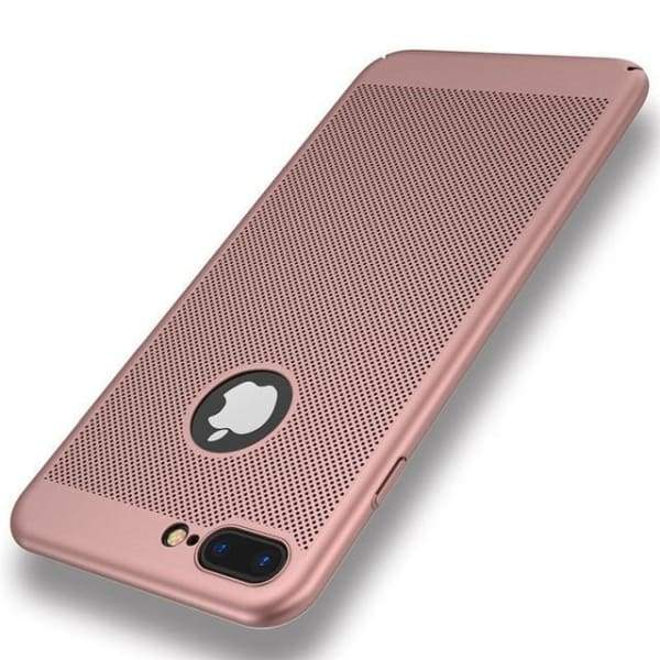 Heat Dissipation Iphone Case For Iphone X /7 /6 /6S Plus /5 /5S Se - Rose Gold / For Iphone 5 5S Se - Iphone Cases & Bags - Paidcellphone