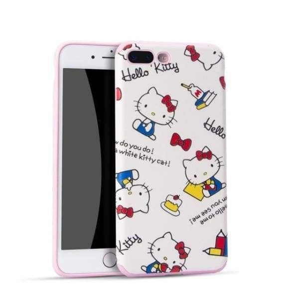 Hello Kitty Cartoon Case For Iphone 7 /8 /6(S) Plus - 01 / For Iphone 6 - Iphone Cases & Bags - Paidcellphone