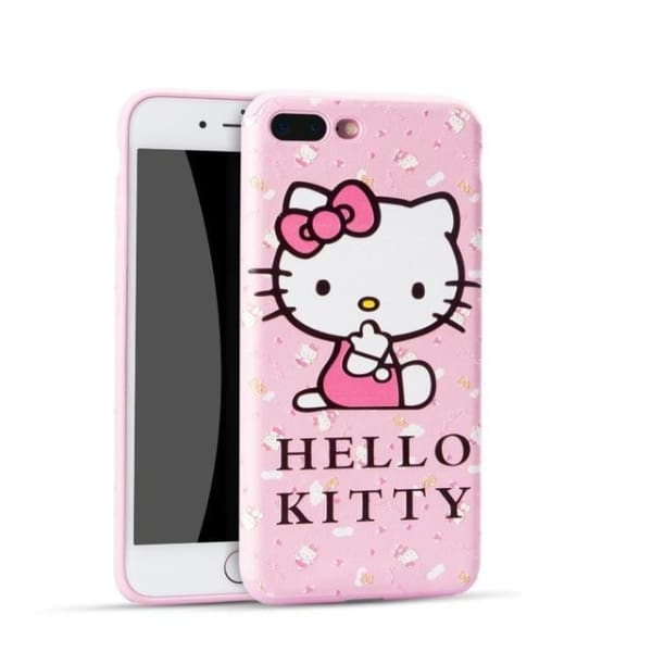 Hello Kitty Cartoon Case For Iphone 7 /8 /6(S) Plus - 04 / For Iphone 6 - Iphone Cases & Bags - Paidcellphone