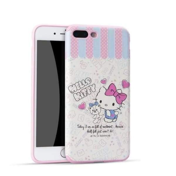 Hello Kitty Cartoon Case For Iphone 7 /8 /6(S) Plus - 03 / For Iphone 6 - Iphone Cases & Bags - Paidcellphone