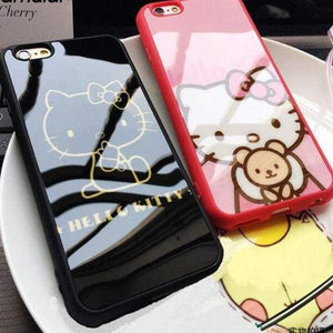 Hello Kitty Silicone Case For Iphone 5(S) Se/ 7/8 /6(S) Plus - Iphone Cases & Bags - Paidcellphone